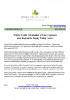 Trinity Grant Award