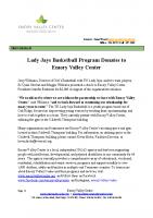 Lady Jays Donation